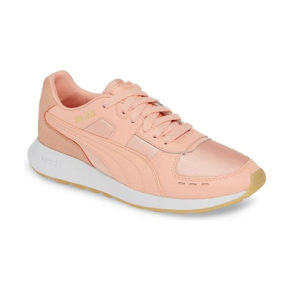 PUMA rs-150 satin sneaker in pink