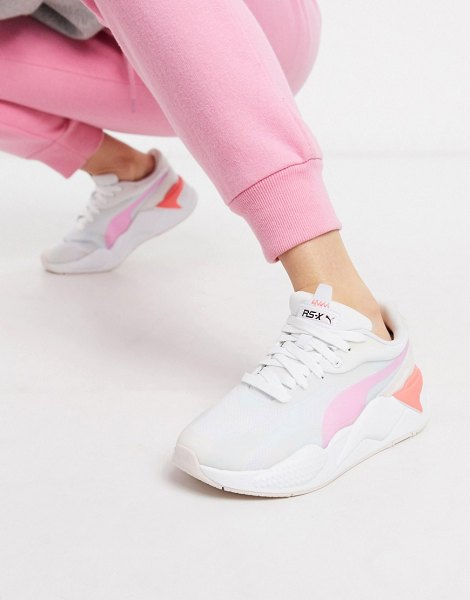 PUMA rs-x3 plas tech sneakers in pink in pink