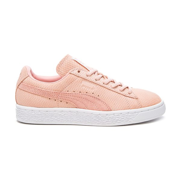 PUMA Sportstyle suede classic sneaker in blush - Embossed suede upper with rubber sole. Lace-up front....
