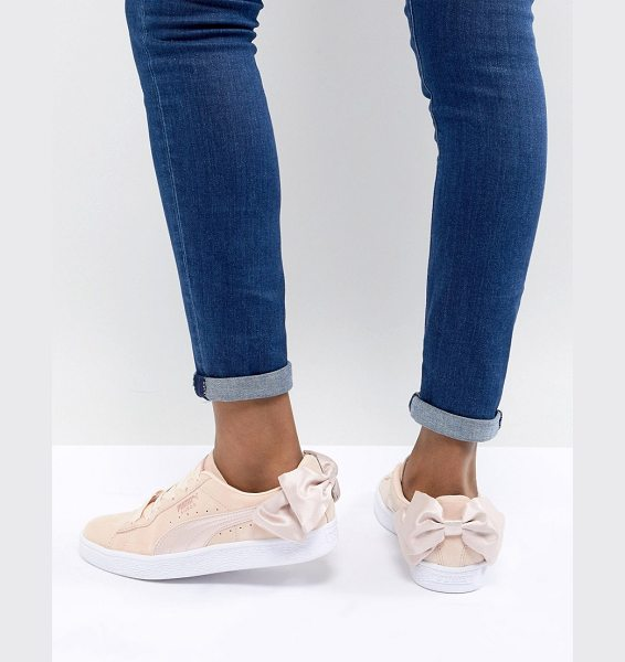 PUMA Suede Bow Valentines Sneakers In Pink | Nudevotion