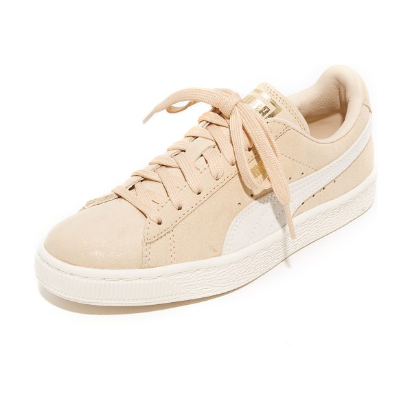 PUMA suede classic shine sneakers - Classic suede PUMA sneakers will metallic logo accents...