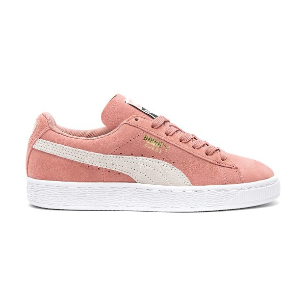 PUMA Suede Classic Sneaker in rose - Suede upper with rubber sole. Lace-up front. PUMA-WZ56....