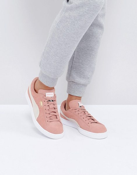 PUMA Suede Classic Sneakers In Pink - Sneakers by PUMA, Suede upper, Lace-up fastening,...