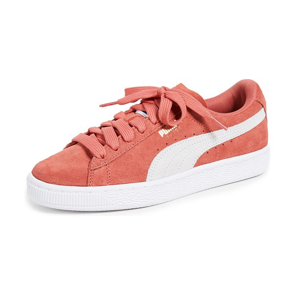 e65678ad263 PUMA suede classic sneakers in spiced coral puma white - Leather  Cowhide  Gold foil