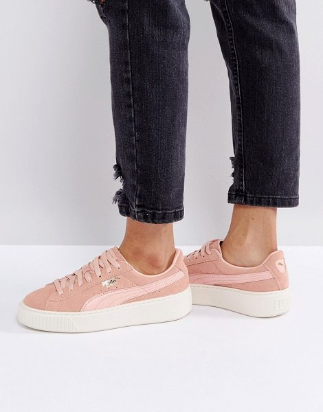 PUMA Suede Platform Sneaker In Pink in pink - Sneakers by Puma, Suede upper, Lace-up fastening,...