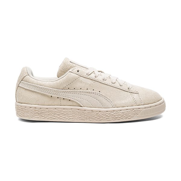 PUMA Suede Remaster Sneaker in cream - Coated and textured suede upper with rubber sole....