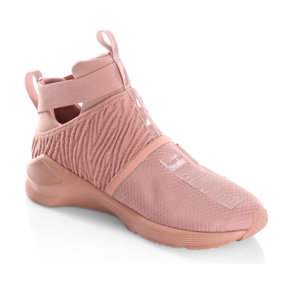 PUMA textile mid-top sneakers in pink - Textile mid-top sneakers with front and back pull tab....