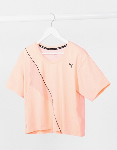 PUMA training pearl cropped t-shirt-pink in pink