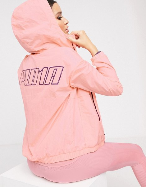 PUMA wind jacket in pink in pink