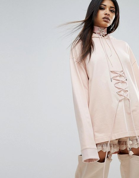 """PUMA X Fenty Graphic Lacing Hoodie in pink - """"""""Hoodie by PUMA, Designed in collaboration with Rihanna..."""