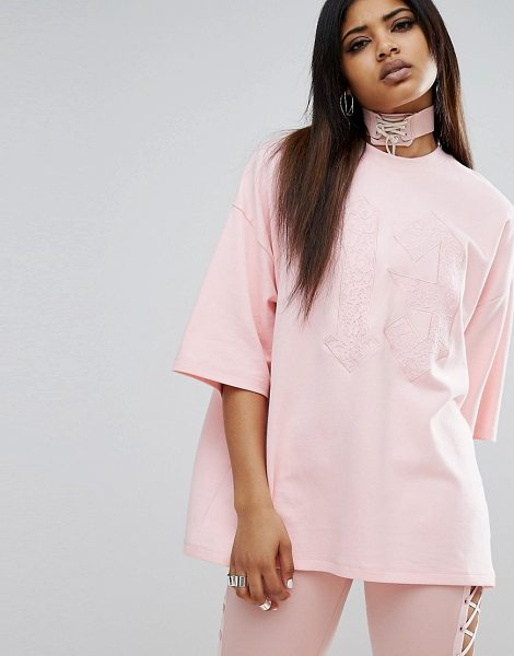 """PUMA X Fenty Oversized Crew Neck T-Shirt in pink - """"""""T-shirt by PUMA, Designed in collaboration with..."""