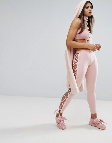 "PUMA X Fenty Satin Lacing Legging - """"Leggings by PUMA, Designed in collaboration with..."