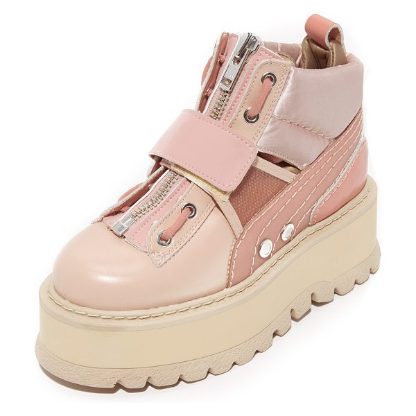 PUMA fenty x  strap sneaker booties in silver/pink - From Rihanna's FENTY x PUMA collection, these...