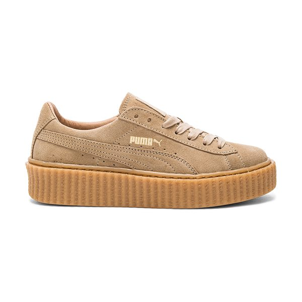 PUMA X rihanna anniversary creepers in tan - Suede upper with rubber sole. Lace-up front. Creeper...