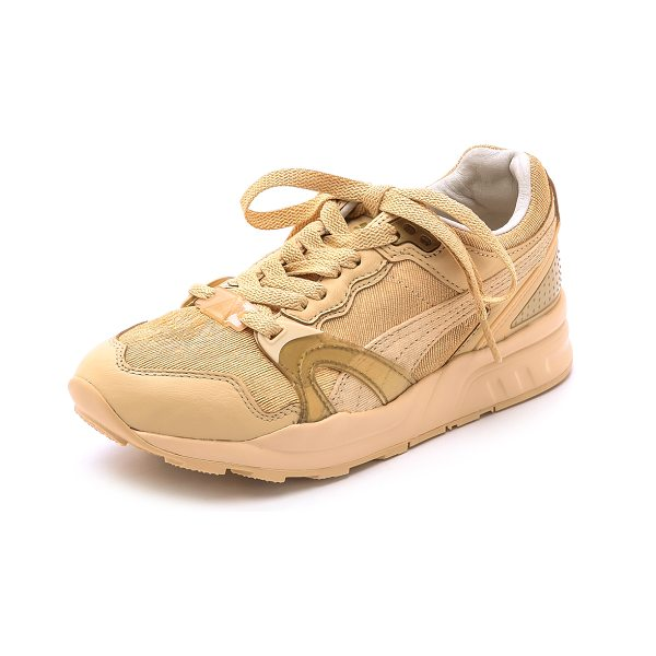 PUMA X solange trinomic joggers in natural calm - Sporty Puma x Solange sneakers cut from scaled, laser...