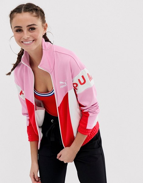 PUMA xtg 94 shine pink track jacket in pink