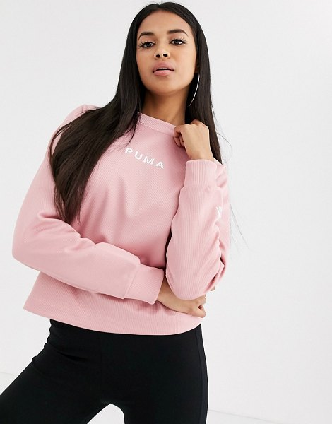 PUMA xtg crew neck sweater in rose-pink in pink