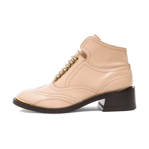 PURIFIED Leather patti 9 in neutrals - Leather upper and sole.  Made in Portugal.  Approx 40mm/...