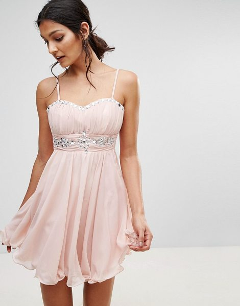"""Pussycat London Embellished Prom Dress in pink - """"""""Evening dress by Pussycat London, Lined woven fabric,..."""