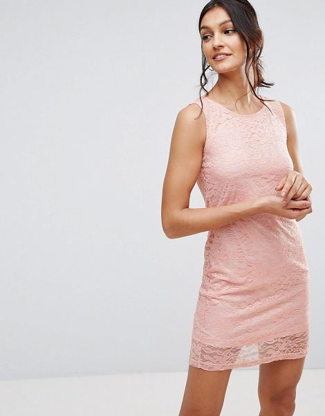 """Pussycat London Lace Dress in pink - """"""""Lace dress by Pussycat London, Lined lace, Scoop neck,..."""