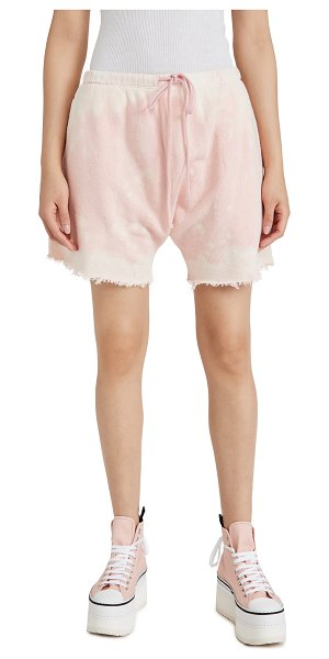 R13 dropped crotch sweatshorts in bleached pink