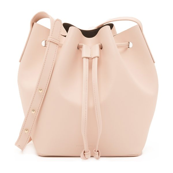 Rachael Ruddick Beach bucket bag in blush - A minimalist Rachael Ruddick bucket bag in smooth...