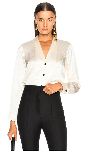 RACHEL COMEY Affair Top - 100% silk.  Made in USA.  Dry clean only.  Button front...