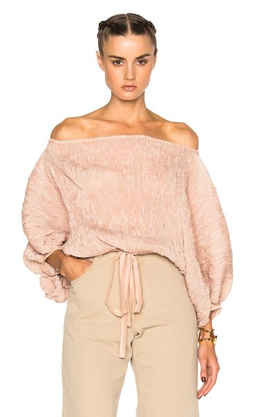 Rachel Comey Bare top in pink,neutrals - 100% poly.  Made in USA.  Textured crepe fabric. ...