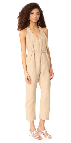 Rachel Comey buxton jumpsuit in beige - NOTE: Runs true to size. A sophisticated Rachel Comey...