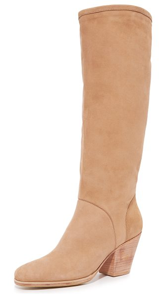 Rachel Comey Rachel Comey Carrier Boots in natural - Luxe suede Rachel Comey boots styled with a relaxed...