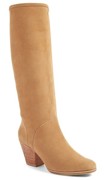Rachel Comey 'carrier' tall boot in natural nubuck - Buttery-smooth nubuck leather enhances the soft profile...