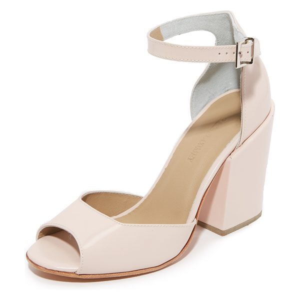 Rachel Comey coppa sandals in blush - Peep toe Rachel Comey sandals styled in smooth leather....
