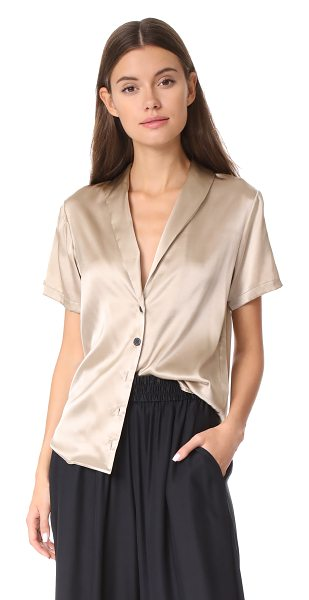 Rachel Comey evoke top in stone - An airy Rachel Comey shirt in shimmery silk. Slim lapels...