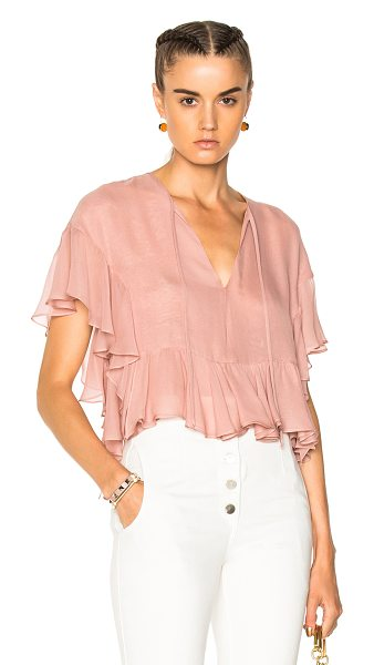 Rachel Comey Floater Top in pink - Self: 100% silk - Lining: 100% poly.  Made in USA.  Dry...