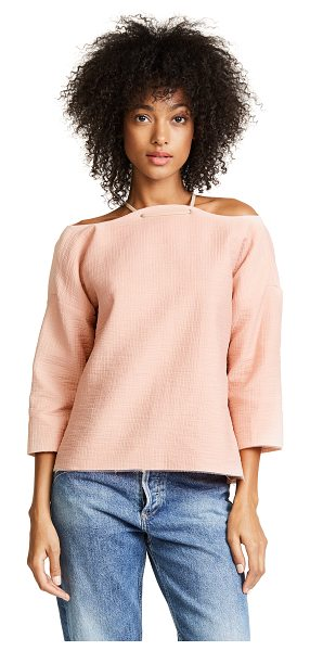 Rachel Comey folsom top in blush - This textured Rachel Comey top is fashioned with a...