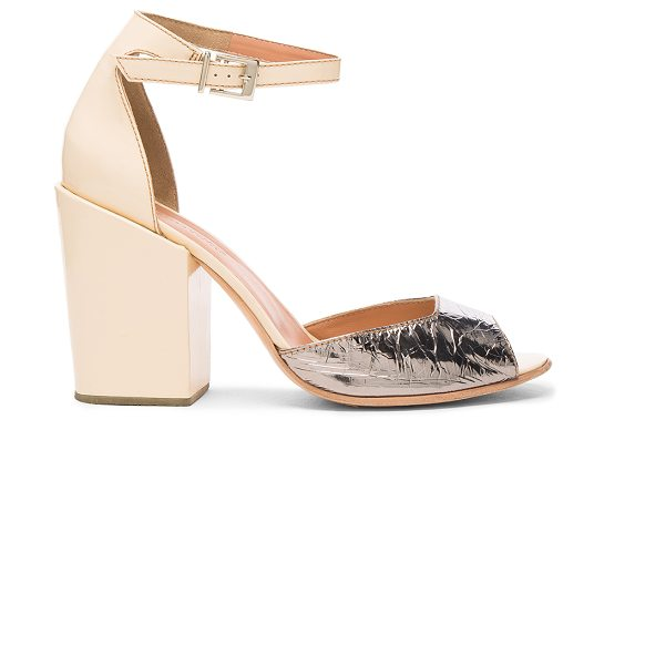 Rachel Comey Leather Coppa Sandals in galina & creamsicle - Leather upper and sole. Made in Peru. Approx 100mm/ 4...