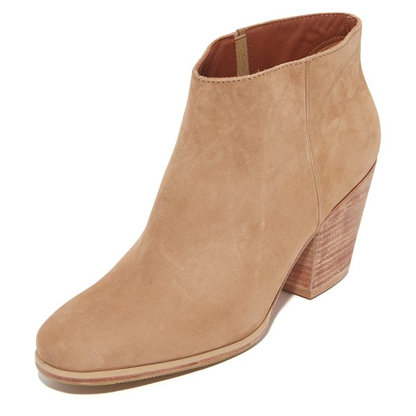 Rachel Comey mars booties in natural - Versatile Rachel Comey booties in smooth nubuck. Elastic...