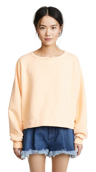 Rachel Comey mingle sweatshirt in peach - Fabric: French terry Rolled neckline Oversize fit...