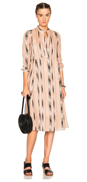 Rachel Comey New Hue Dress in neutrals,pink,stripes - 100% cotton.  Made in USA.  Fully lined.  Hidden side...