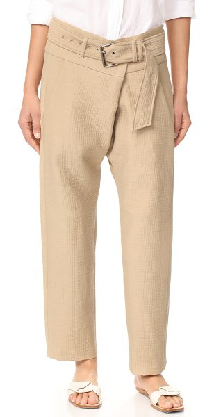 Rachel Comey new tolleson pants in beige - NOTE: Runs true to size. A unique puckered texture lends...