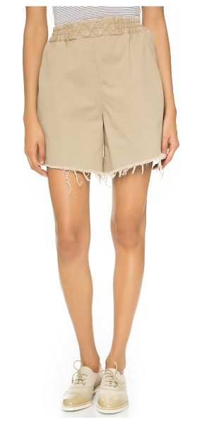 Rachel Comey Rogue shorts in sand - Raw leg openings accentuate the casual look of these...