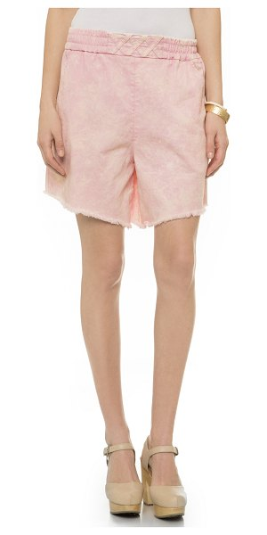 Rachel Comey Rogue shorts in pink acid wash - Slouchy Rachel Comey shorts, styled with a speckled...