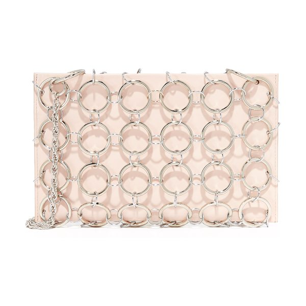 Rachel Comey sila chain bag in blossom - Allover chain links lend a cage effect to this patent...