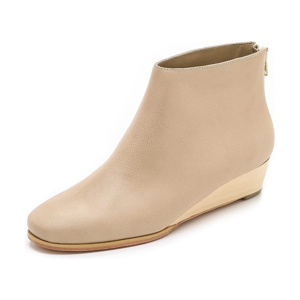 RACHEL COMEY Snoop wedge booties - A slim wooden wedge brings subtle lift to these...