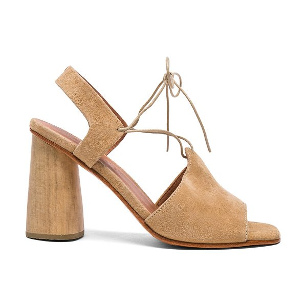 Rachel Comey Suede Melrose Heels in neutrals - Suede upper with leather sole.  Made in Peru.  Approx...