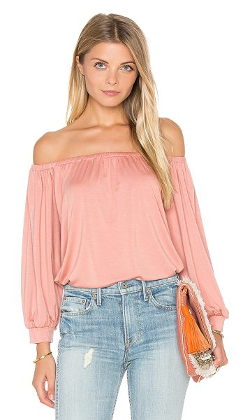 Rachel Pally Ayumi Top in blush - 92% modal 8% spandex. Dry clean recommended. Elasticized...