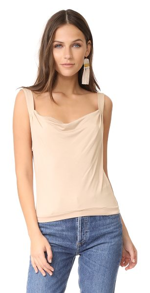 Rachel Pally babs top in bamboo - A slouchy neckline adds to the draped profile of this...
