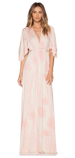 Rachel Pally Caftan dress in coral - 92% modal 8% spandex. Dry clean recommended. Waist tie...