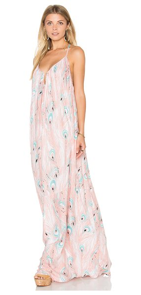 Rachel Pally Crepe Mirage Maxi Dress in pink - 100% rayon. Dry clean recommended. Unlined. Wired...