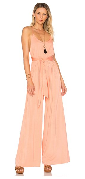 "Rachel Pally Drake Jumpsuit in peach - ""92% modal 8% spandex. Dry clean only. Elasticized..."